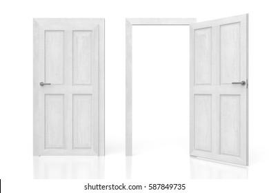 3D illustration/ 3D rendering - two doors concept.