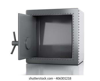 3d illustration. safe box. Security concept. Isolated white background.
