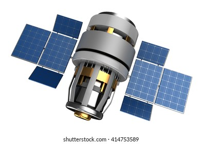 3d illustration of satellite isolated over white
