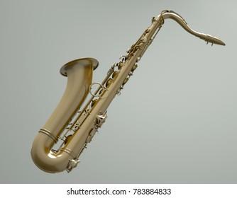 3d illustration of a Saxophone