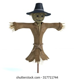 3d illustration of a scarecrow