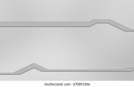 3D Illustration SciFi Panel