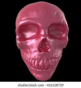 3d illustration of skull isolated on black background