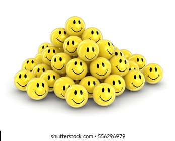 3D Illustration. Smileys. Image with clipping path