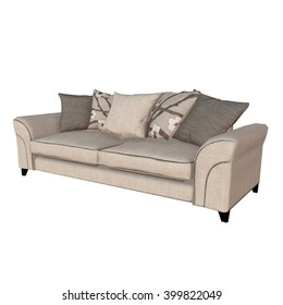 3D illustration of sofa