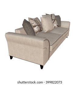 3D illustration of sofa