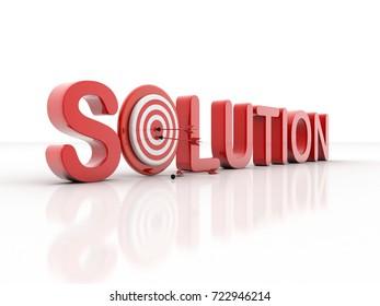 3d illustration SOLUTION target