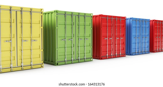 3d illustration of some container