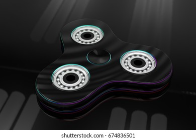 3d illustration of a spinner is a cool toy for adults and children