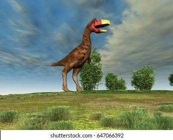 3d illustration of a terror bird