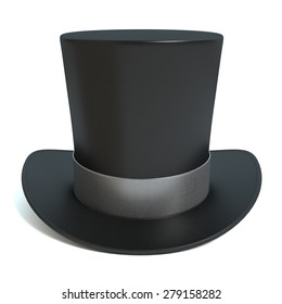 3d illustration of a top hat