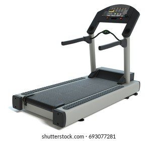 3d illustration of a treadmill