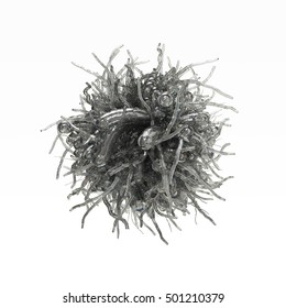 3d illustration Urchin wool virus, thin tentacles bacterium with hight cover some salmonella bacteria