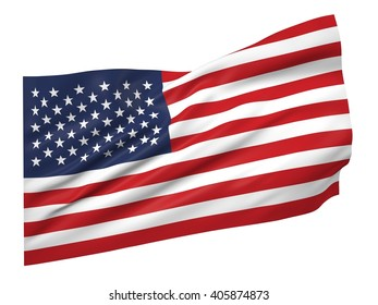 3D illustration of USA flag