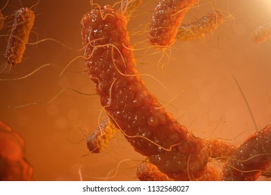 3d illustration viral infection causing chronic disease. Hepatitis viruses, influenza virus H1N1, Flu, cell infect organism, aids. Virus abstract background.
