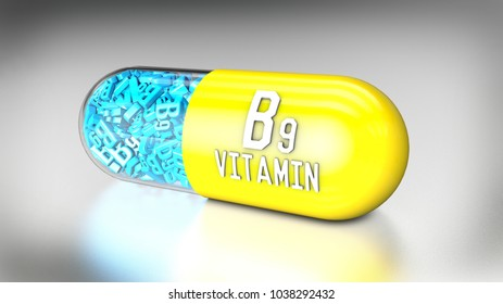3D illustration of a vitamin capsule or dietary supplements