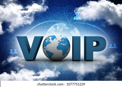 3d illustration Voip
