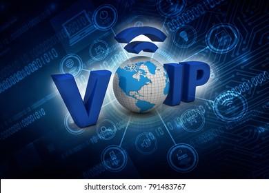 3d illustration VoIP