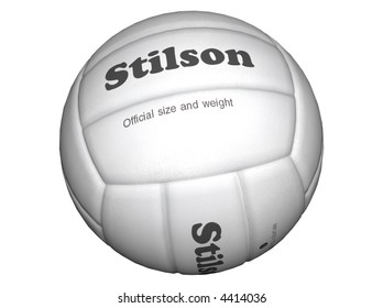 3D Illustration of a volleyball