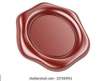 3d illustration wax seal isolated on a white background