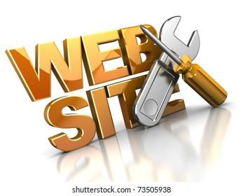 3d illustration of web design icon or symbol