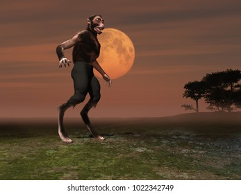 3d illustration of a werewolf