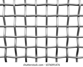 3d illustration. Wire fence. Image with clipping path