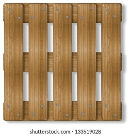 3d illustration of a wooden box palette / Palette