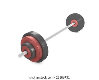 3d image, conceptual weight lifting