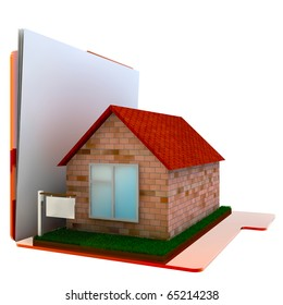 3D images of your home folder, on white background isolated