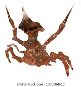 3d Insect Crab Monster Intimidation Pose