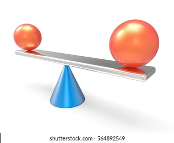 3D Isolated Balance Abstract Spheres Shapes Scale Equity Illustration