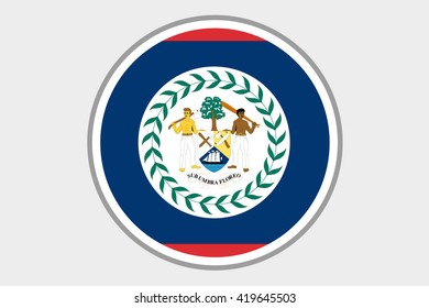 A 3D Isometric Flag Illustration of the country of Belize