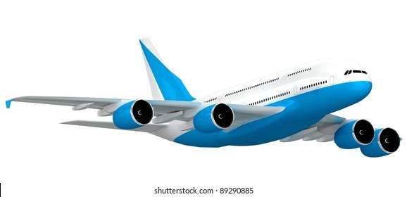 3d Jet airliner.