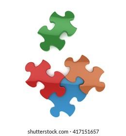 3d jigsaw C 3D rendering