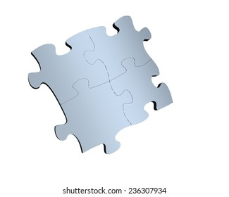 3d jigsaw puzzle with white background