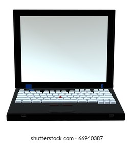 3D laptop on a white background