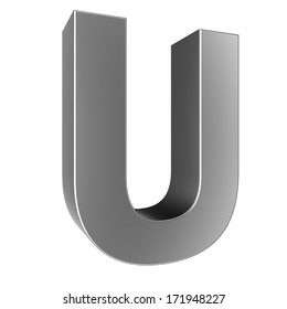 3d letter collection - U