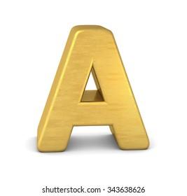 3d letter A gold