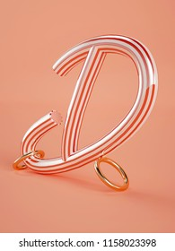3D letters D three-dimensional letters