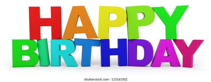 happy birthday 3d letters images  stock photos  u0026 vectors
