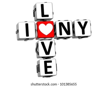 I love new york images stock photos vectors shutterstock 3d i love ny crossword block text on white background altavistaventures Image collections
