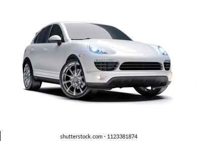 3d luxury sport SUV car