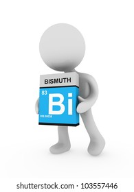 3d man carry a bismuth box