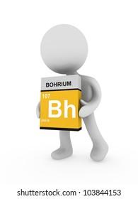 3d man carry a bohrium box