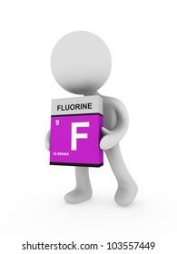 3d man carry a fluorine box