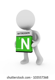3d man carry a nitrogen box