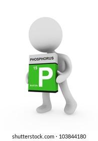 3d man carry a phosphorus  box