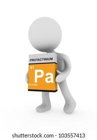 3d man carry a protactinium box