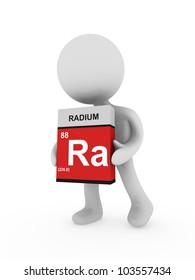 3d man carry a radium box